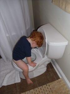 Jack going potty | New Orleans Moms Blog
