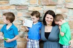 Triplet boys and mom | New Orleans Moms Blog