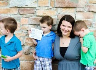 Triplet boys and mom   New Orleans Moms Blog
