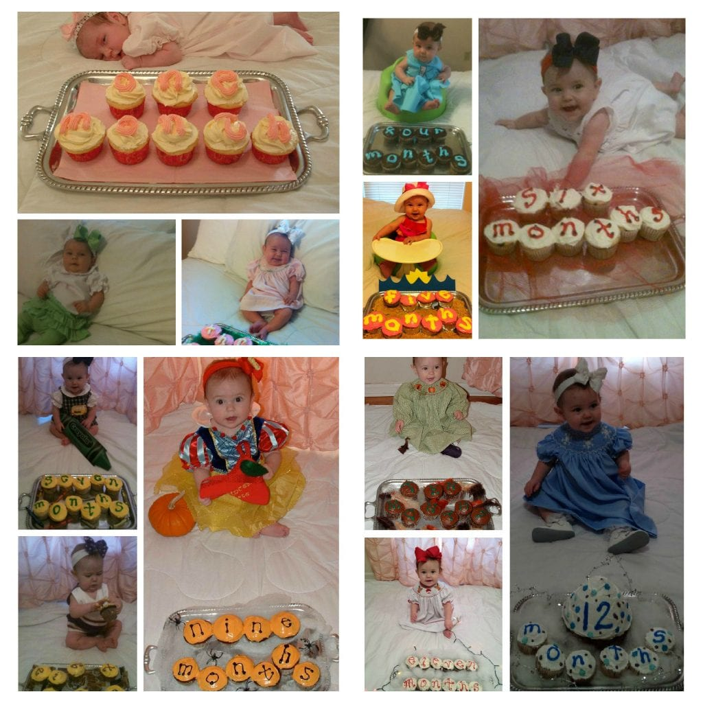 documenting baby's first month with cupcakes | New Orleans Moms Blog