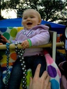 Emma loves Mardi Gras!