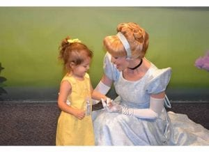 Annelise in her Cinderella dress by Design a Latte