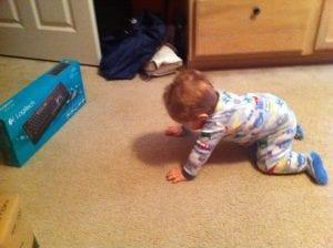 Nathaniel crawling