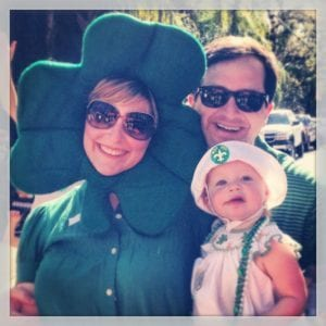 Remeber when you would wear Irish undies on your head?  Now, it's a shamrock...