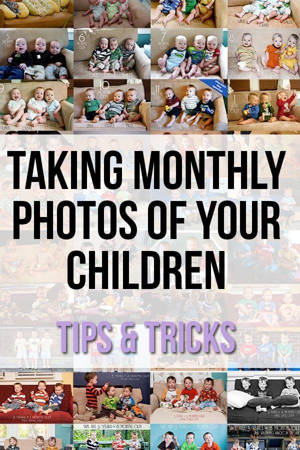 Taking Monthly Photos of Your children