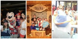 Ohana character breakfast, Family photo, riding Dumbo
