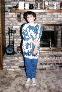 The first day of school in the '80s meant the perfect puzzle-print tunic and matching leggings, Tretorns and a fresh perm!
