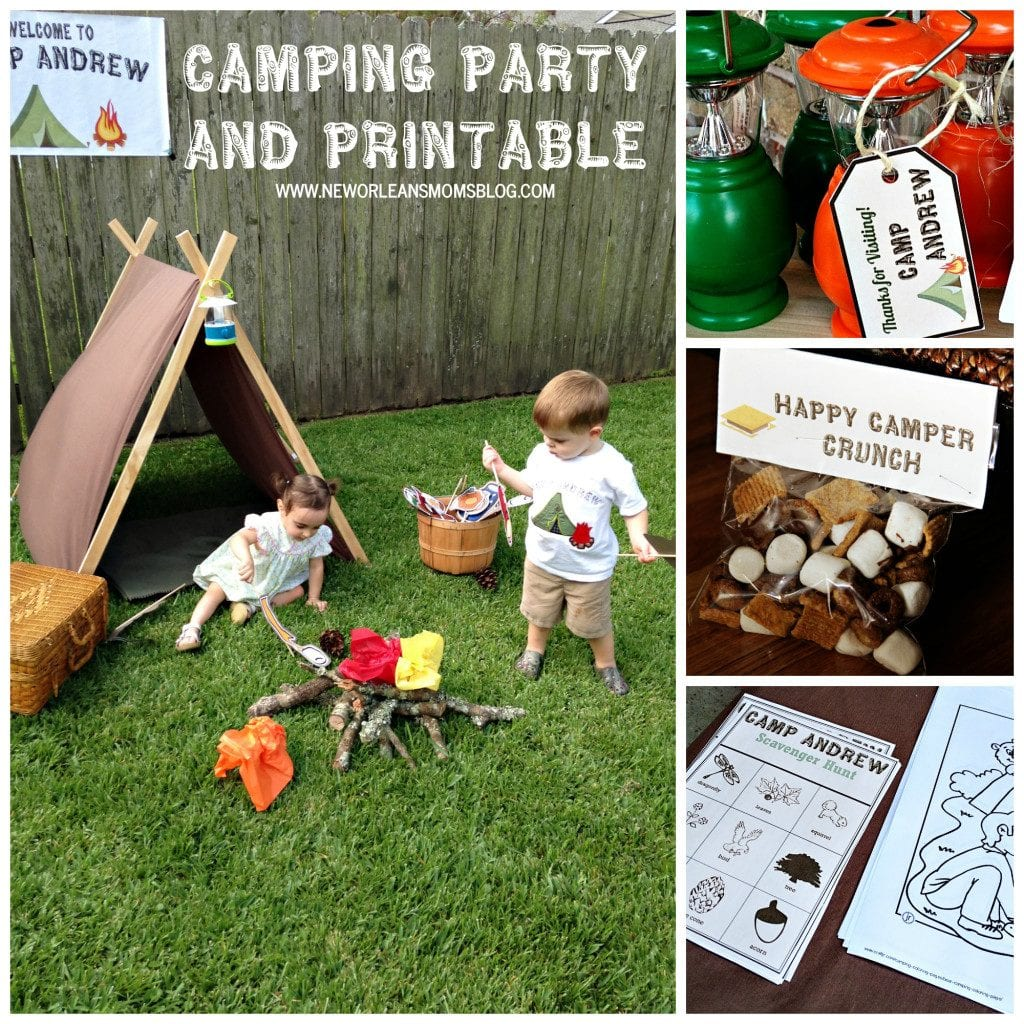 A Camping Party or Playdate I New Orleans Moms Blog
