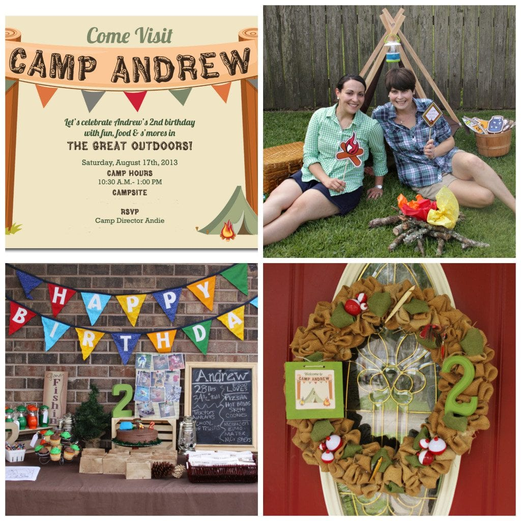 Camp Party Decor I New Orleans Moms Blog
