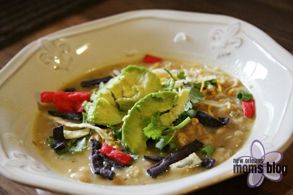 White Chicken Chili from Rotisserie Chicken I New Orleans Moms Blog