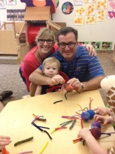 Crafting our family spider at St. George's Halloween Party