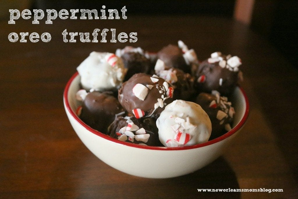 Peppermint Oreo Truffle Recipe I New Orleans Moms Blog