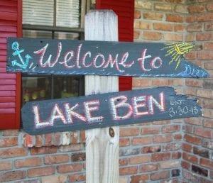 Lake Ben Signcopy