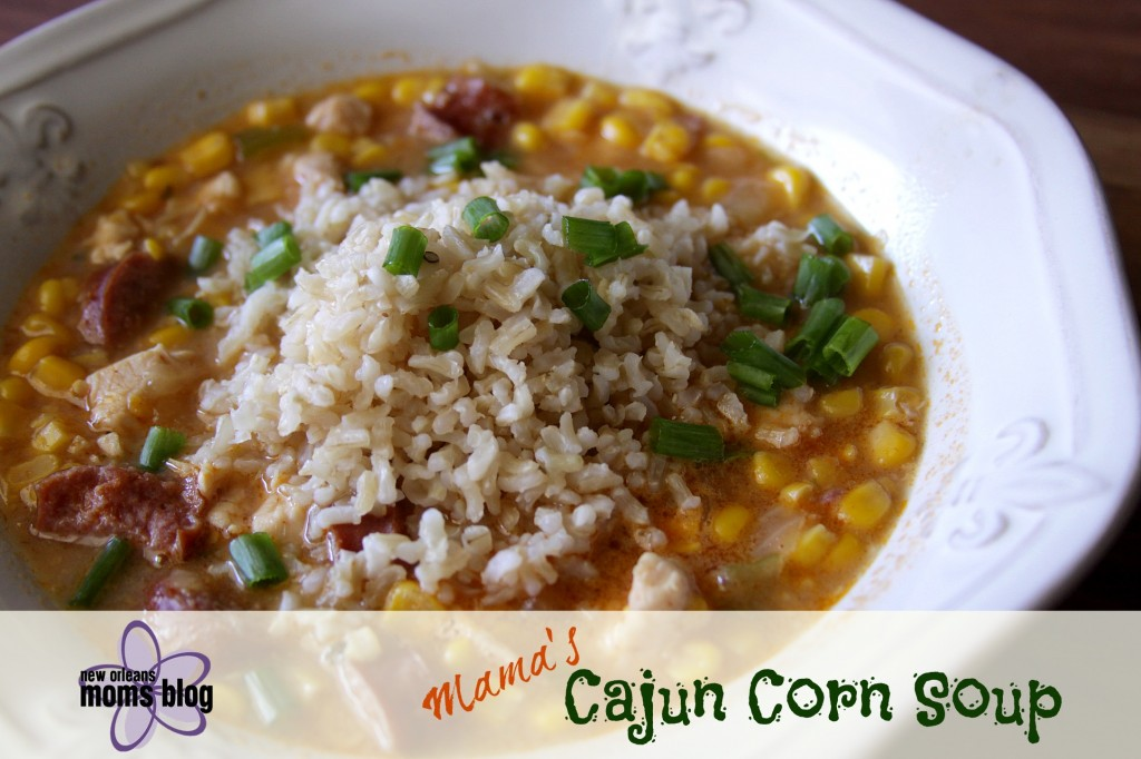 Cajun Corn Soup 2 I New Orleans Moms Blog