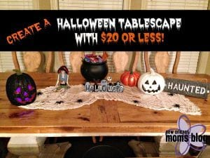 Halloween Tablescape $20 or less I New Orleans Moms Blog