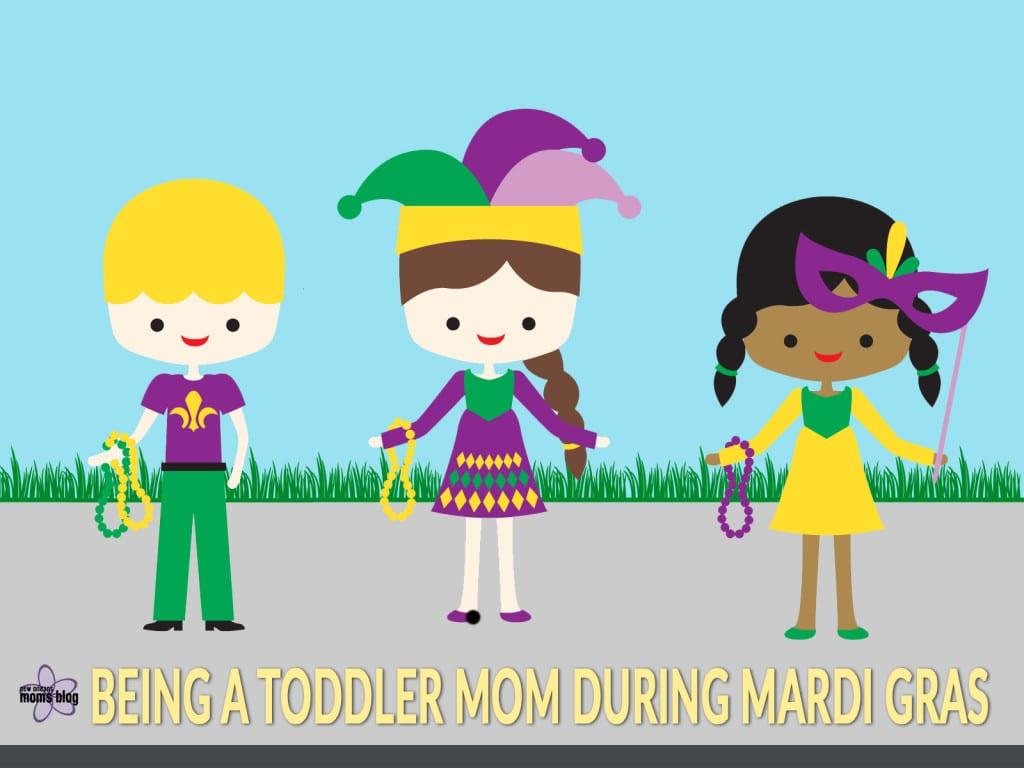 Mardi Gras Toddler Mom