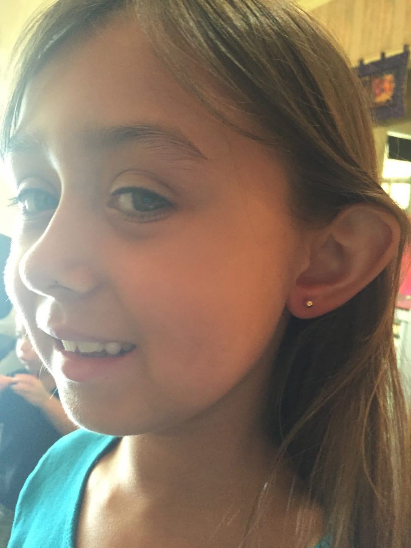 getting daughter's ears pierced