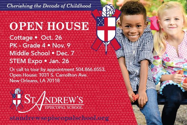 Save the Date :: St. Andrew's Episcopal School Upcoming Open Houses