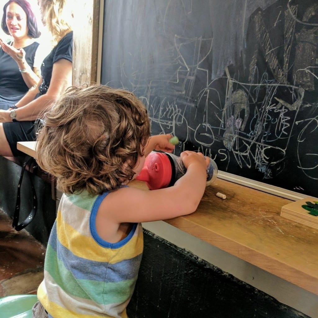 Chalkboard in Congregation Coffee