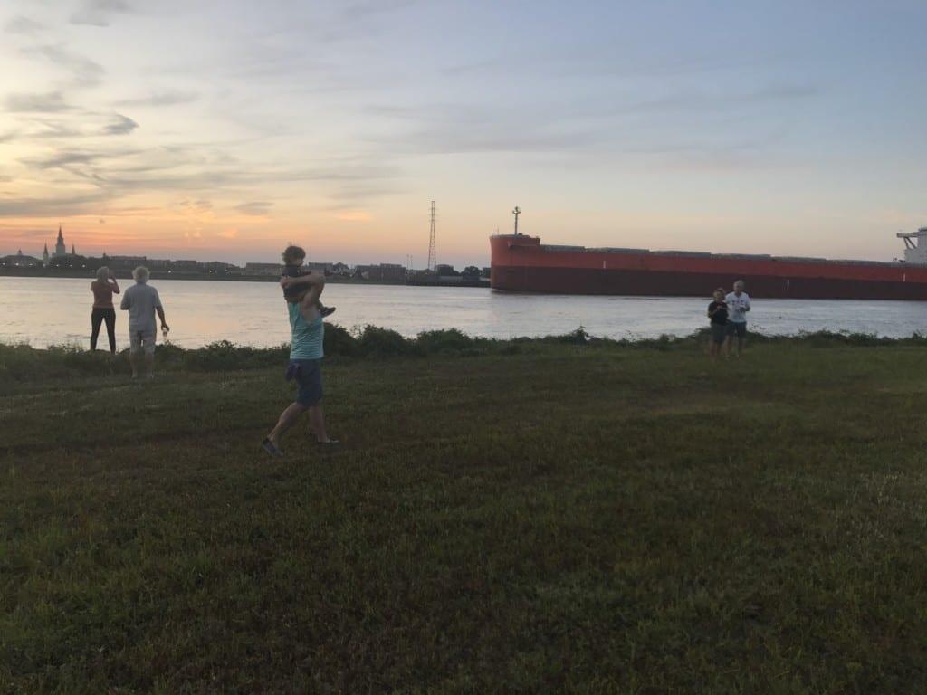 Walking along the Mississippi River