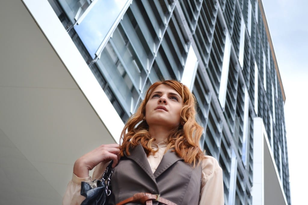 working woman with self-confidence