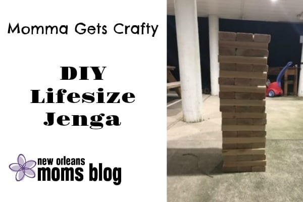 Momma Gets Crafty Diy Lifesize Jenga