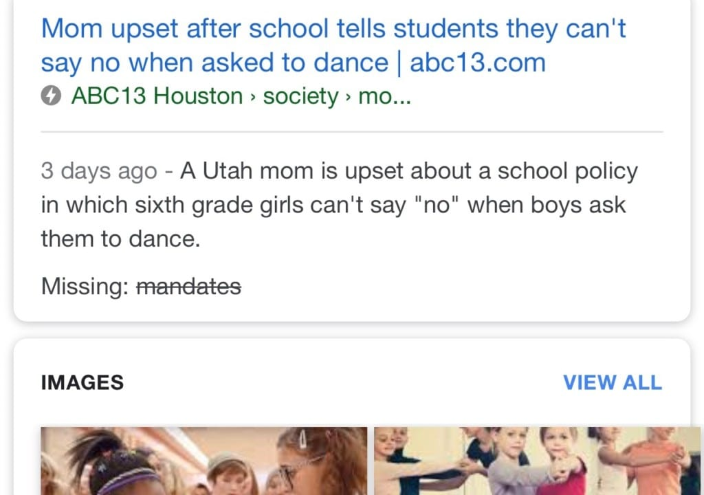 girl can't say no to boys school dance