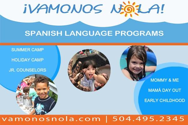 summer Spanish language camp in NOLA