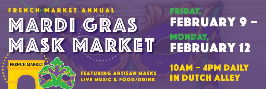 Join French Market for The Annual Mardi Gras Mask Market