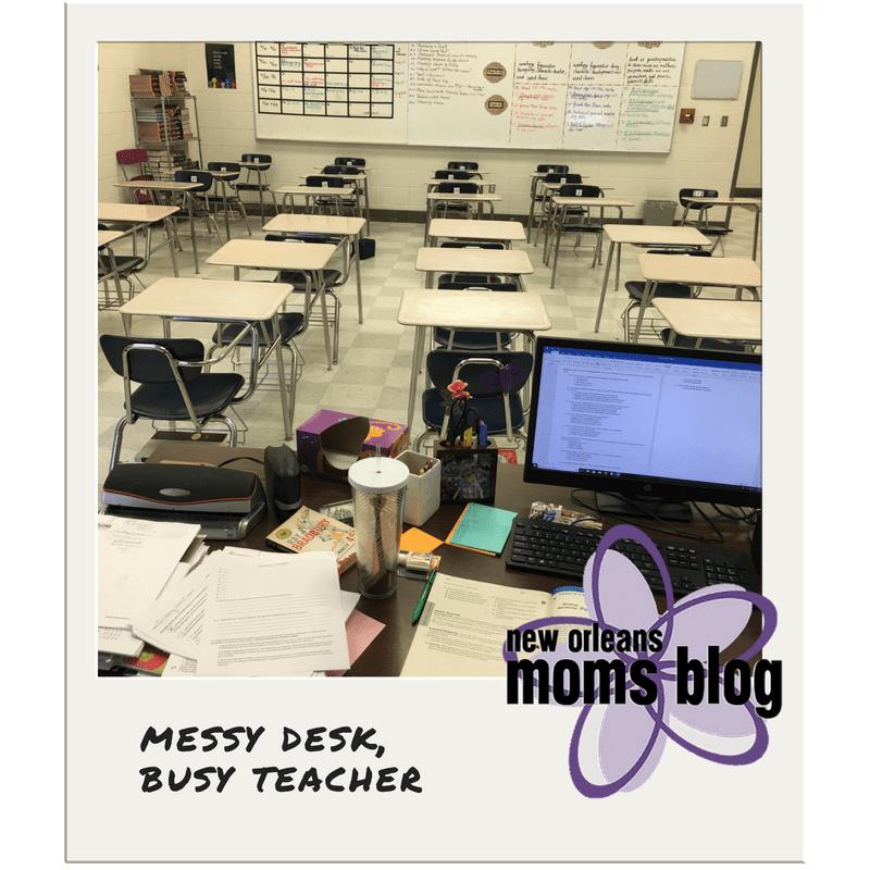 messy desk busy teacher