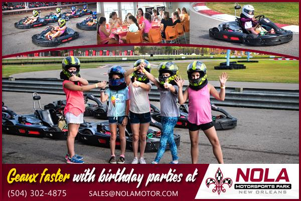 Hit The Track With Birthday Party Packages At NOLA Motorsports Park Features One Of Largest Outdoor Go Kart Facilities In North