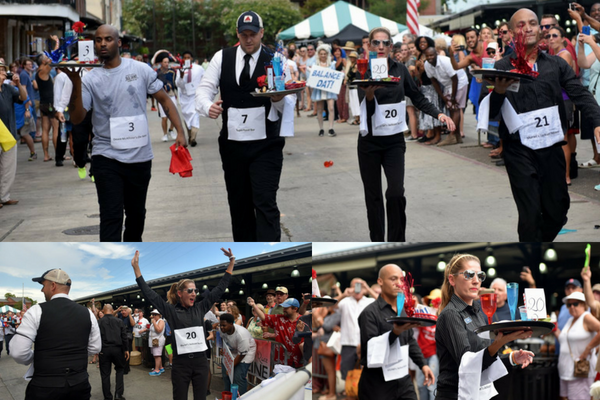 French Market Bartender and Waiter Race Bastille Day