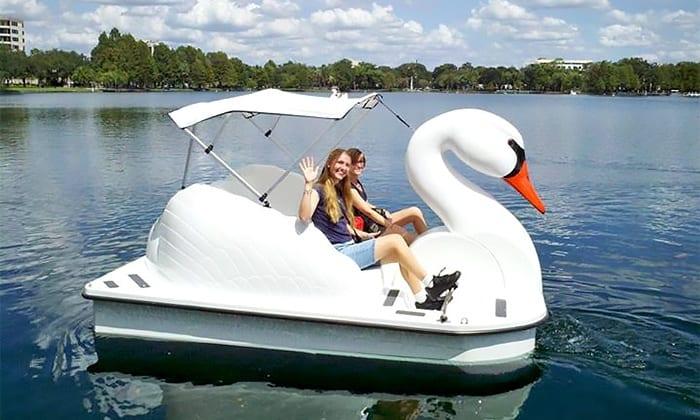 Family fun city park swan boat rentals