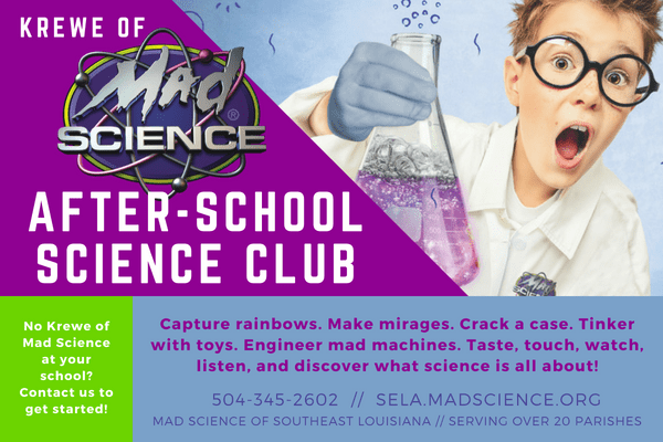 Krewe of Mad Science Postcard July 2018