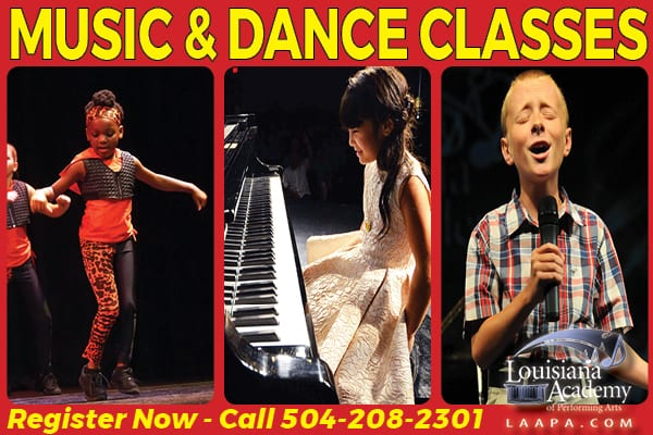 piano voice guitar violin ballet lessons in new orleans