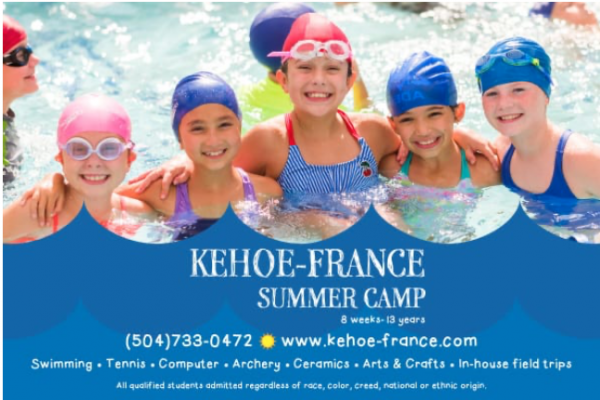 New Orleans camps with swimming options