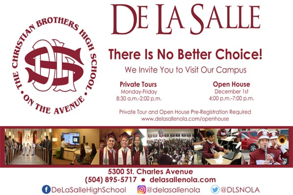 De La Salle is the only co-educational, Catholic high school offering at 4x4 rotating block schedule in New Orleans.