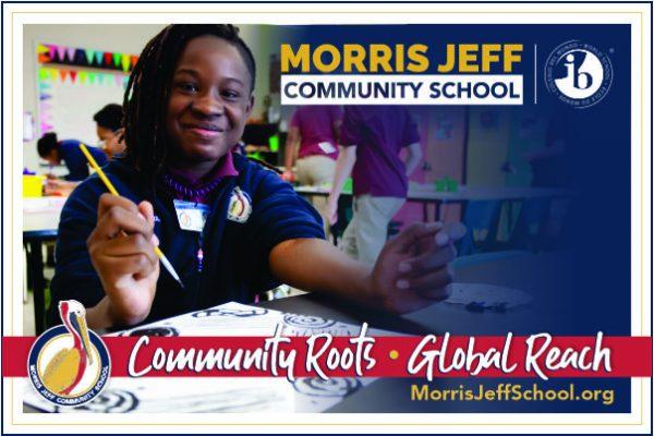 Morris Jeff Community School is an authorized World School of the International Baccalaureate Organization (IBO)