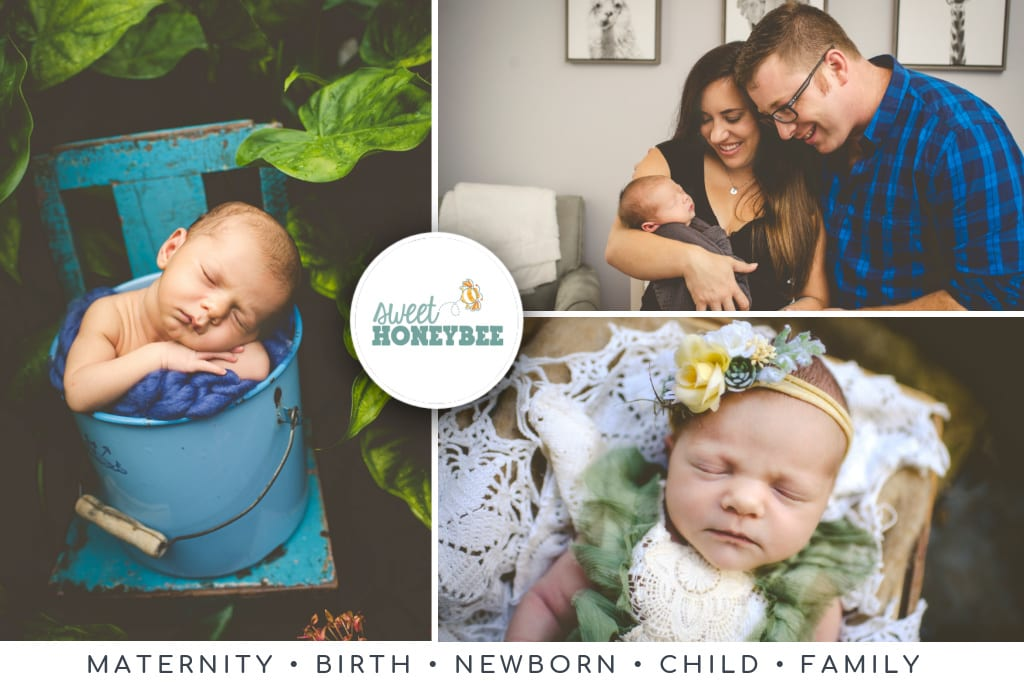 Lifestyle photos of newborns in New Orleans