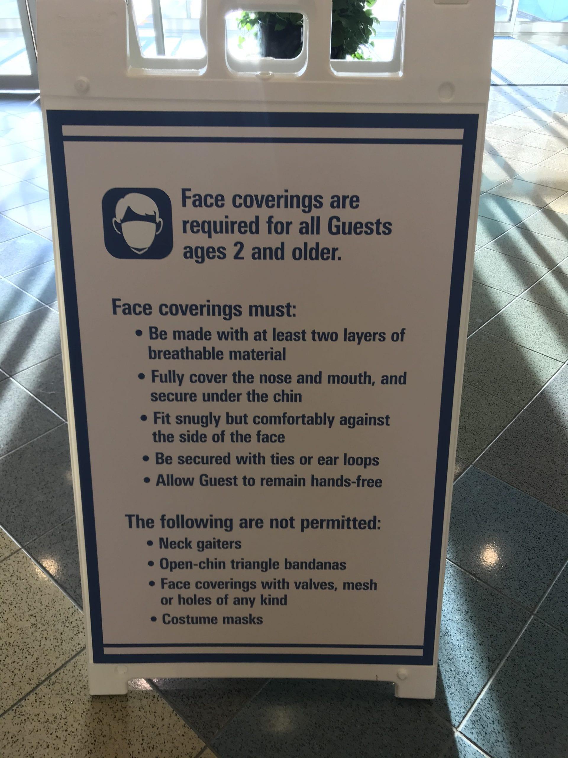 mask requirements at Disney