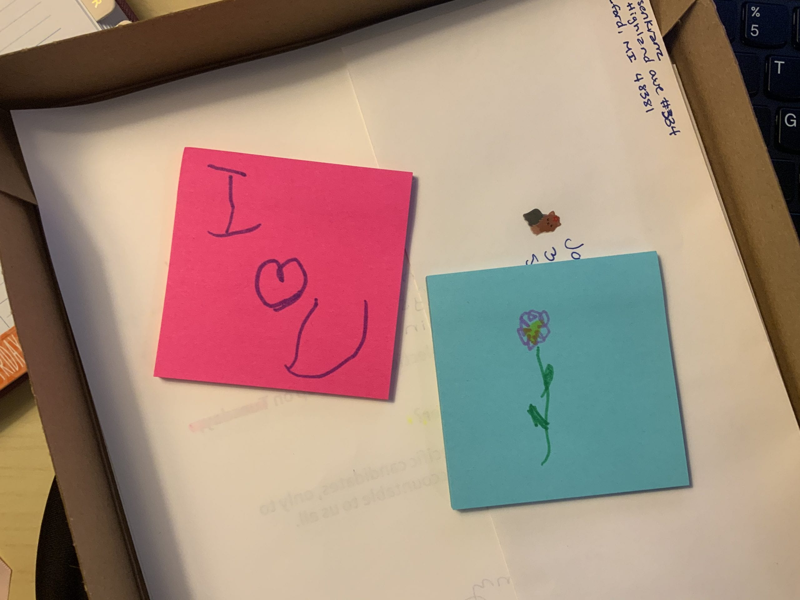 post it notes to include with letters