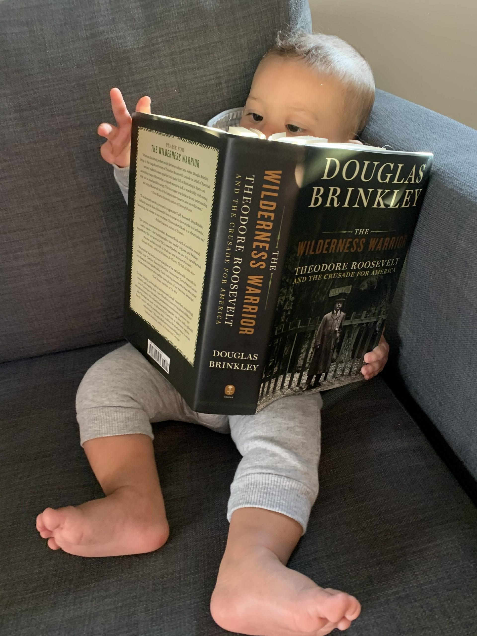little baby reading book