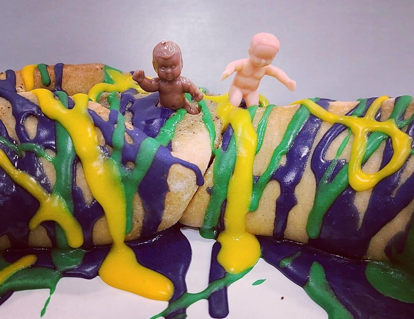 NOCCA's French Truck Cafe Au Lait-filled King Cake
