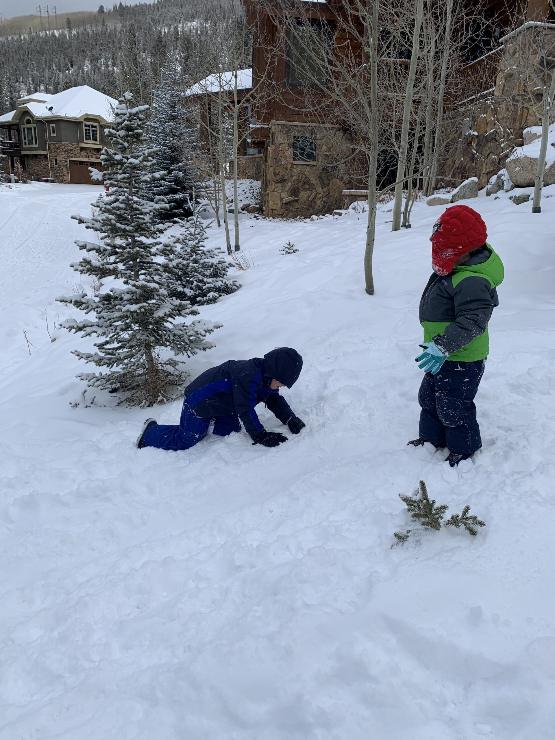 pack extra cold weather gear for kids in Colorado