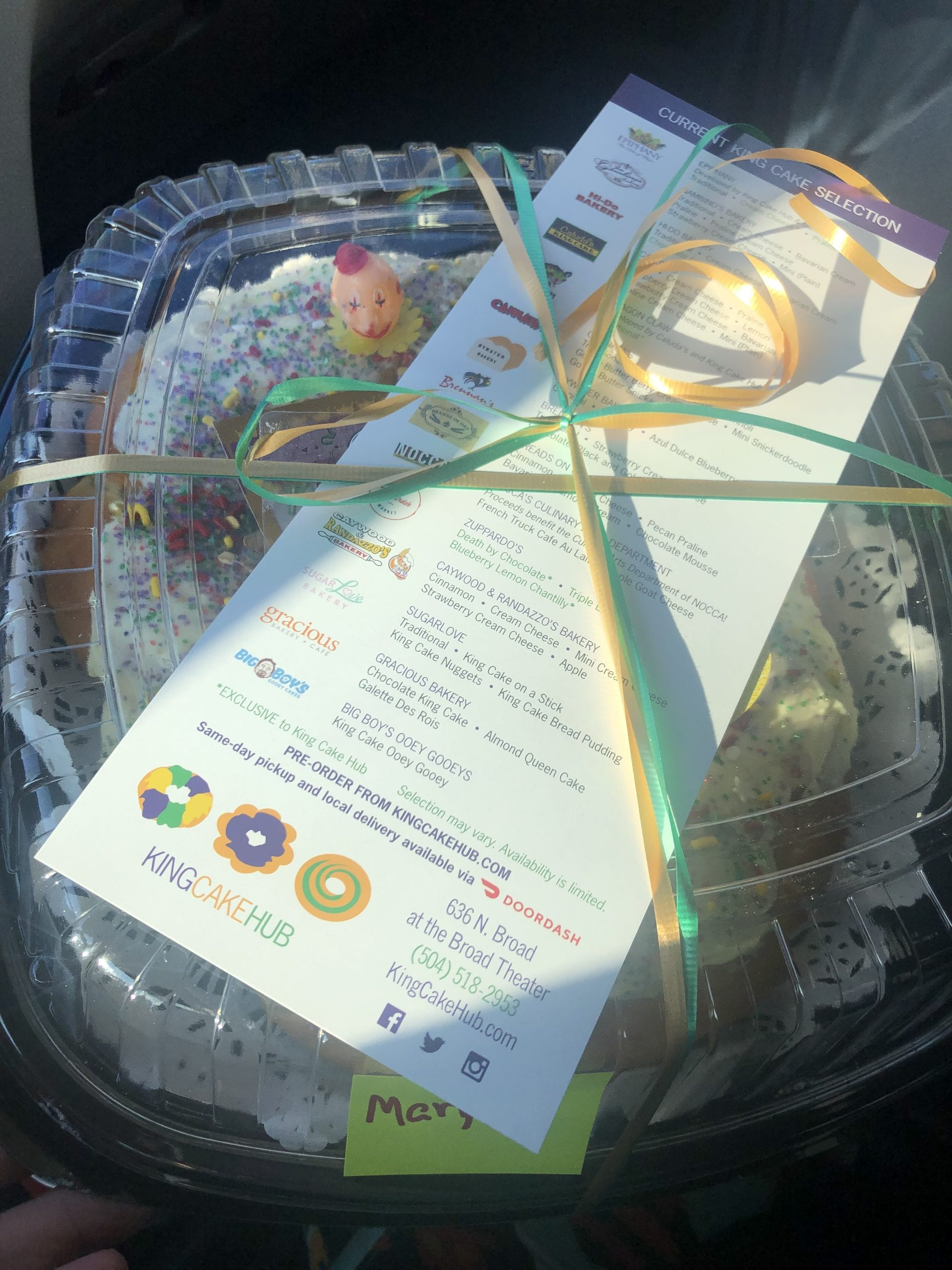 king cake delivery in New Orleans