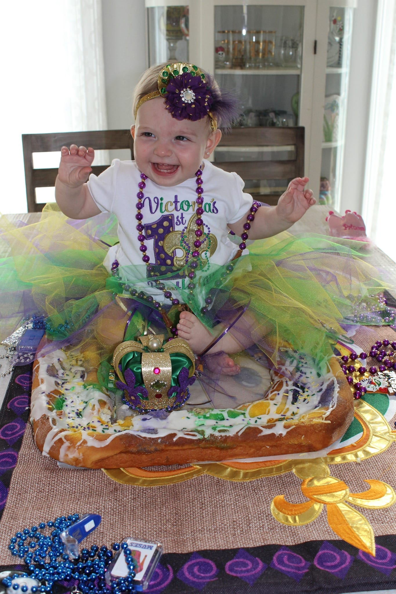 king cake birthday party