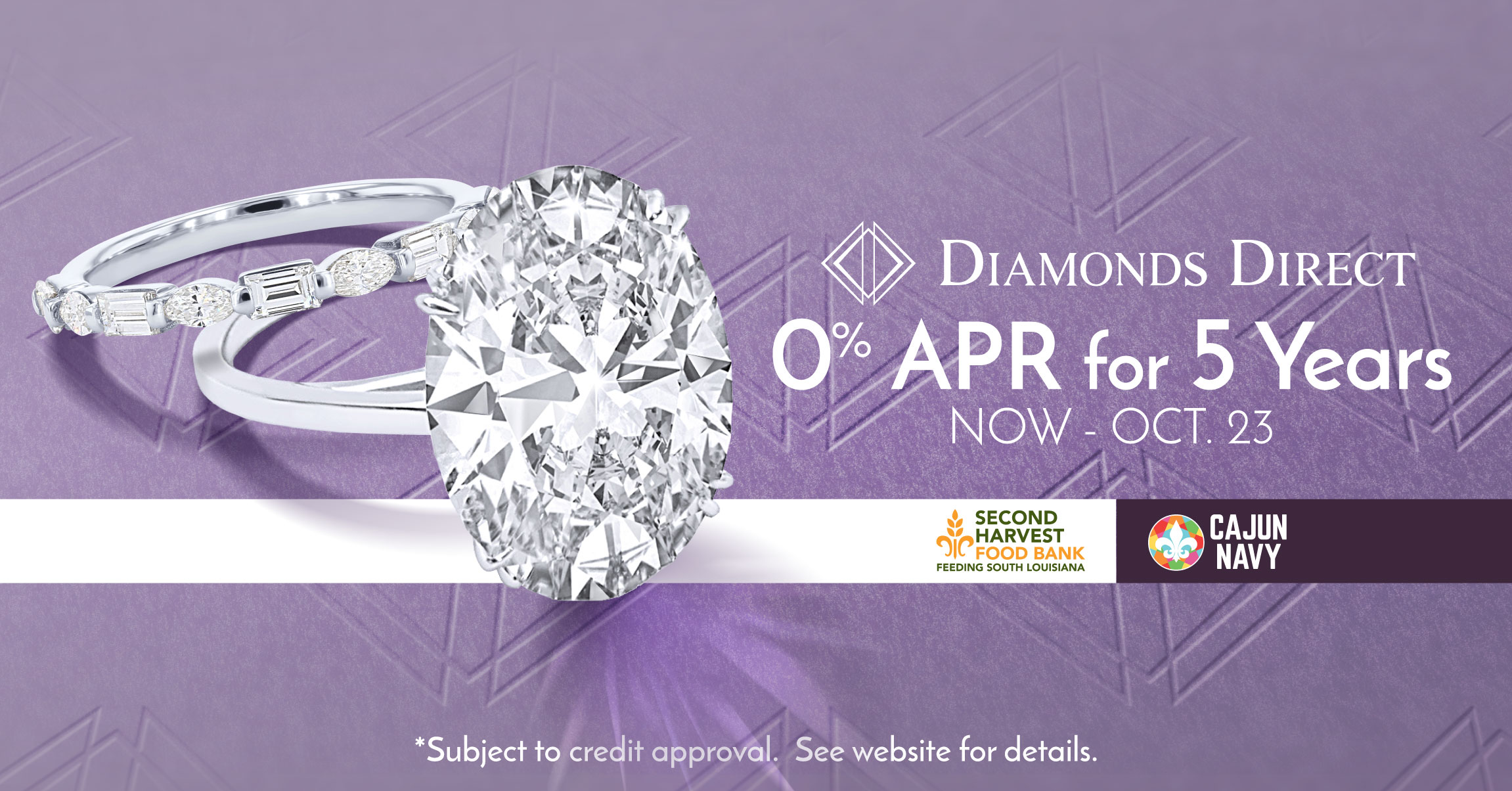 Diamonds Direct Offers 0% Interest for Five Years!